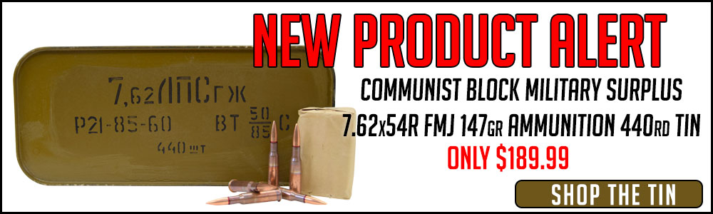 Just added: Communist Block Military Surplus 7.62x54R Ammo