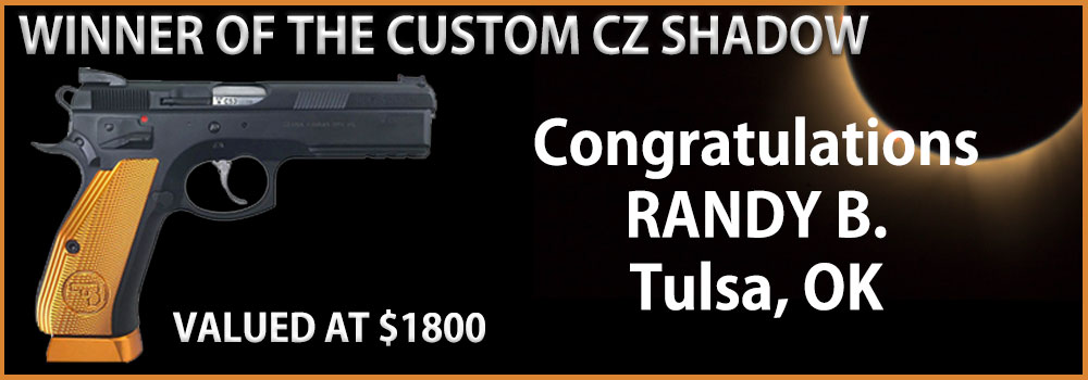 Congrats Randy - The Winner Of The CZ Shadow Pistol